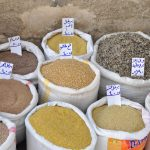 Bulgar wheat and other staples in the Souq