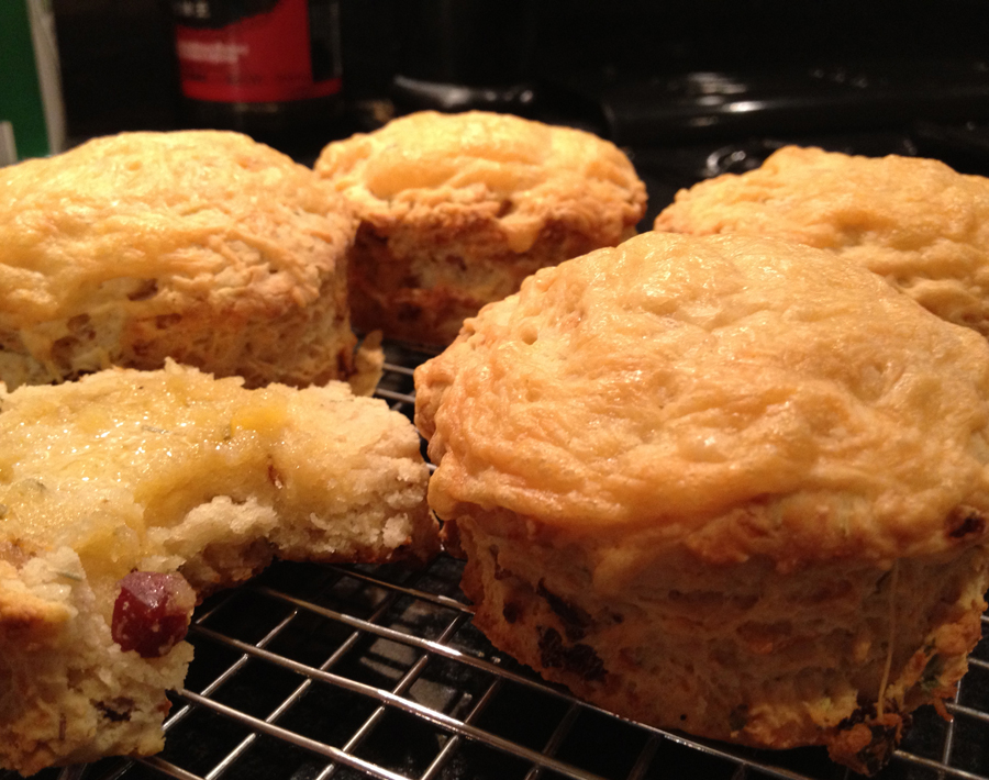 Bite-Size Bacon And Cheese Scones Recipe — Dishmaps