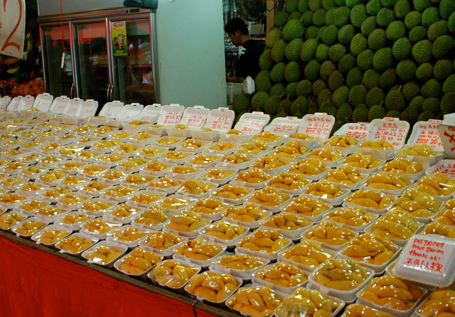 Durian - illegal to eat on the metro