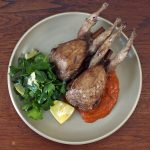 Quail and harissa