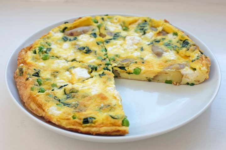 Fritatta with slice out