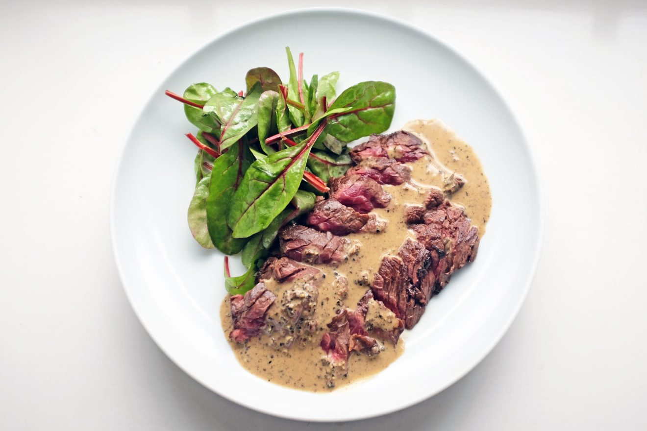 Onglet With Telecherry And Long Pepper Sauce